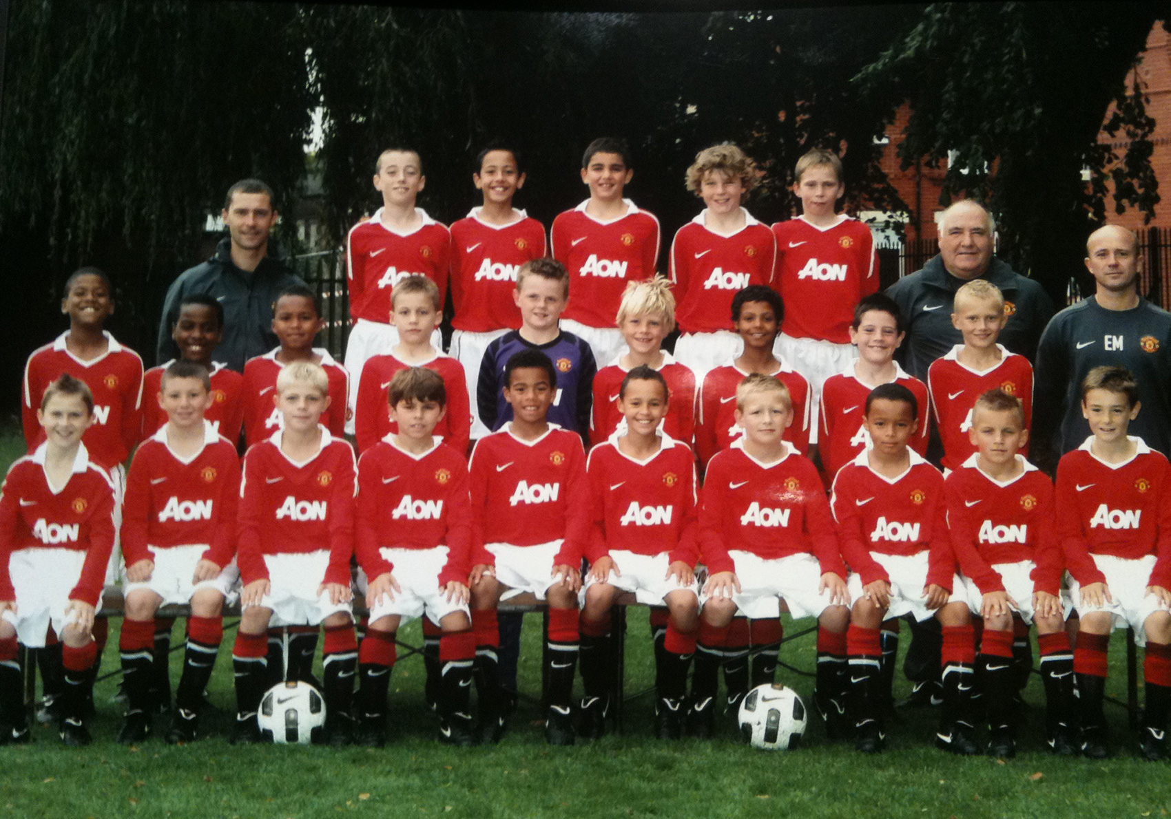 Dylan at Manchester United academy